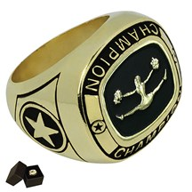 Gold Metal Cheer Ring - 5 Sizes