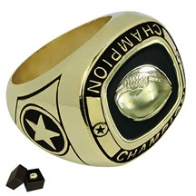 Gold Metal Football Ring - 5 Sizes