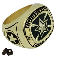 Gold Metal Star Ring - 5 Sizes