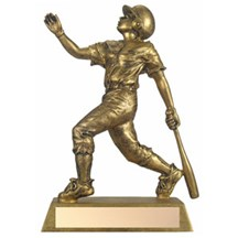 Antique Bronze Resin Baseball Trophy