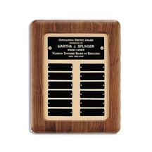 Walnut Frame Perpetual Plaque