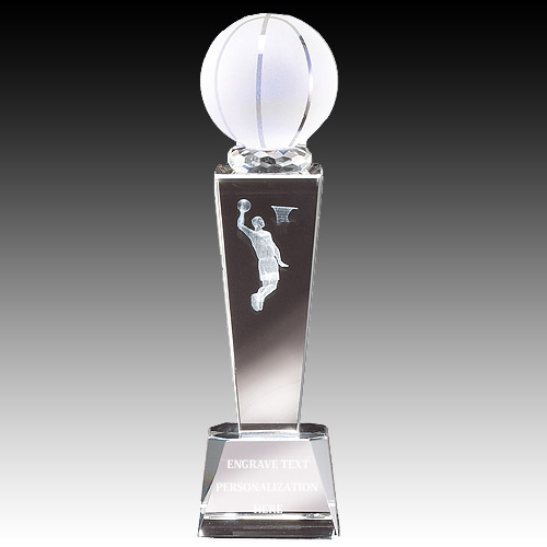 "8-3/4"" Male Basketball Sports Crystal"