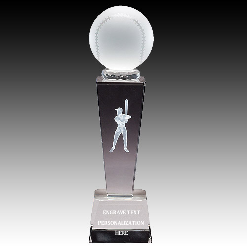 "8-3/4"" Male Baseball Sports Crystal"