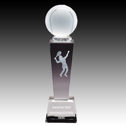 "8-3/4"" Female Tennis Sports Crystal"