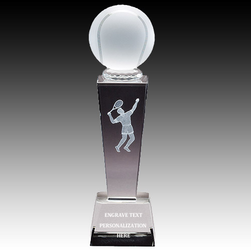 "8-3/4"" Male Tennis Sports Crystal"