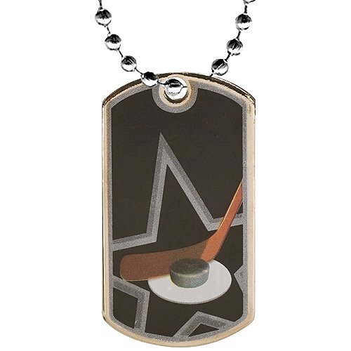 2 in Hockey Dog Tag w/ 24 in Chain