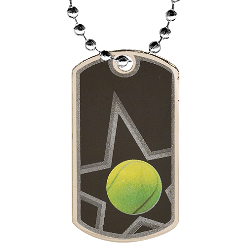 "2"" Tennis Dog Tag w/ 24"" Chain"