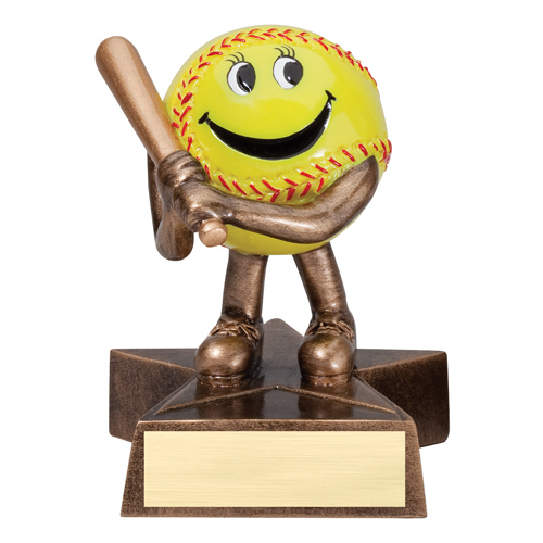Happy Softball Trophy