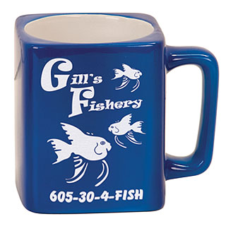 8 oz. Square Ceramic LaserMug - Blue