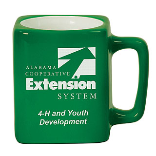 8 oz. Square Ceramic LaserMug - Green