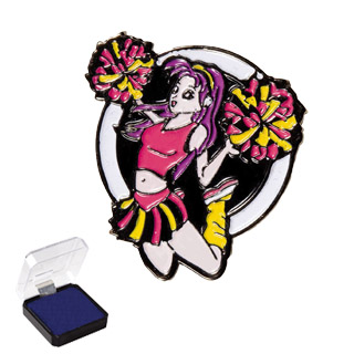 "1"" Cheerleader Sports Pin"