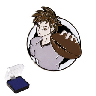 "1"" Football Sports Pin"