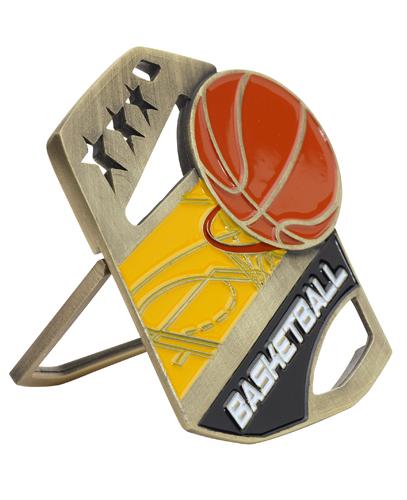 Color Pop Up Basketball Medal
