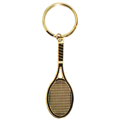 "3"" Full Color Brass Keychain - Tennis"