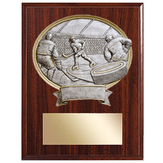 Resin Sport Oval Hockey Plaque