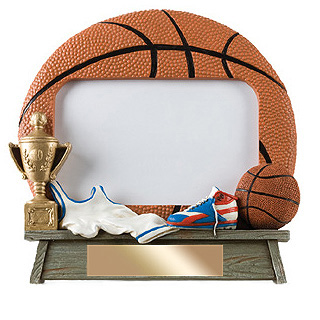 "7"" x 6.5"" Vintage Basketball Photo Frame"