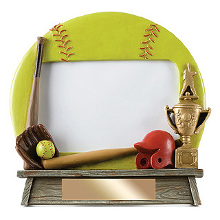 "7"" x 6.5"" Vintage Softball Photo Frame"
