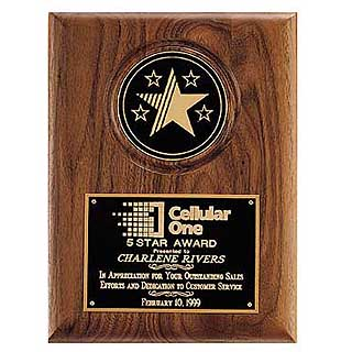 "9"" x 12"" 5 Star Medallion Plaque"