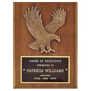 "6"" x 8"" American Walnut Eagle Casting Plaque"