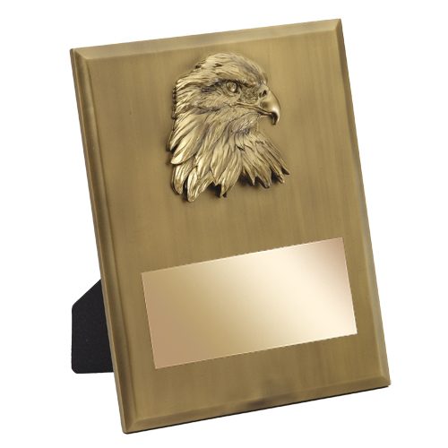 8 in x 10 in Gold Eagle Resin Plaque