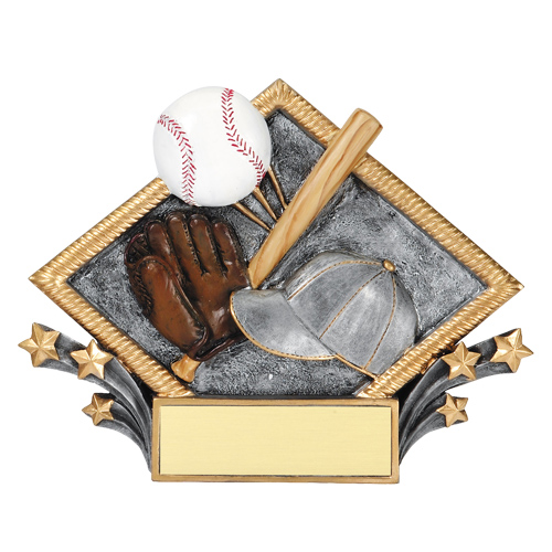 Diamond Plate Baseball Award