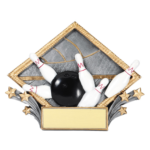 Bowling Diamond Plate Trophy