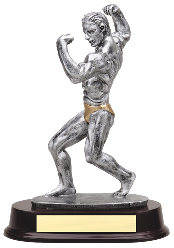 "9 1/2"" Male Body Building Trophy"