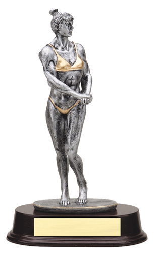 "9 1/2"" Female Body Building Trophy"