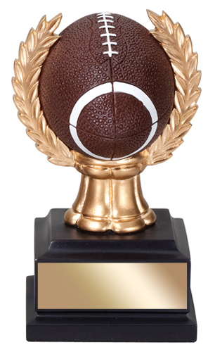 6 in Football Trophy with wreath