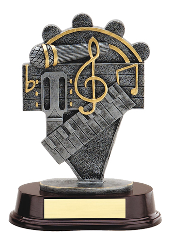 8 in Music Trophy Resin Sculpture