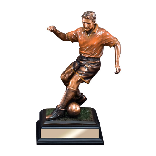 Elegant Soccer Resin Sculpture Trophy