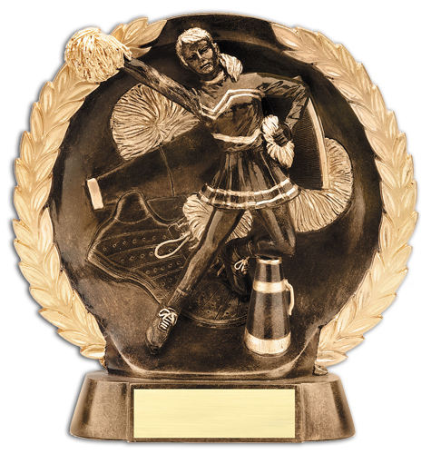 "7 1/2"" Circular Cheerleading Trophy Plate"