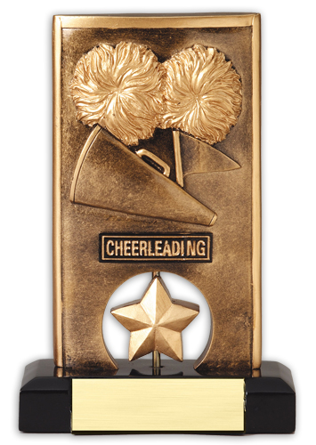 Spinning Resin Cheerleading Trophy