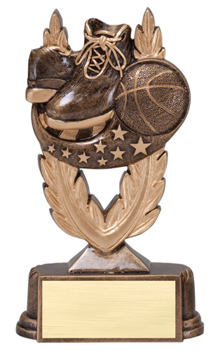 6 in Basketball Trophy