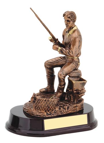 8 1/2 in Resin Fishing Trophy Sculpture