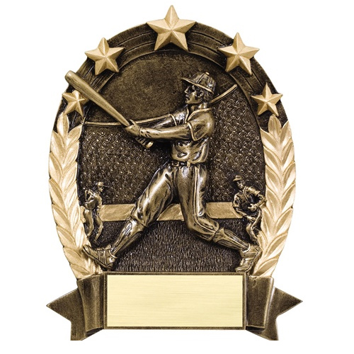 "6 1/2"" Star Baseball Resin"