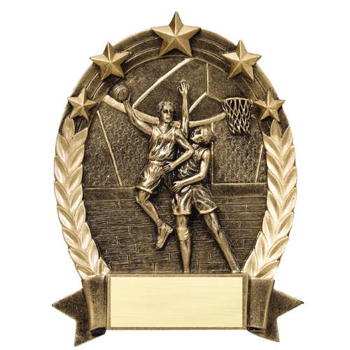 Male Basketball Star Resin Trophy