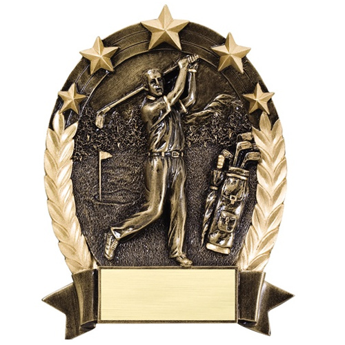 "6 1/2"" Star Golf Resin Trophy"