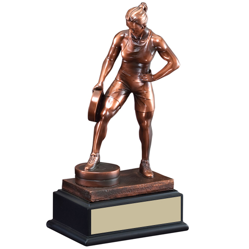 "12"" Female Bar in Hand Weightlifting Trophy"