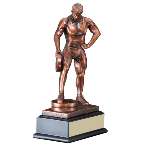 "12"" Male Bar in Hand Weightlifting Trophy"