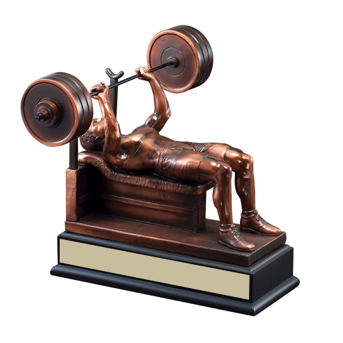 "9"" Male Bench Press Trophy"