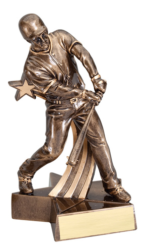 "6 1/2"" Shooting Star Baseball Trophy"