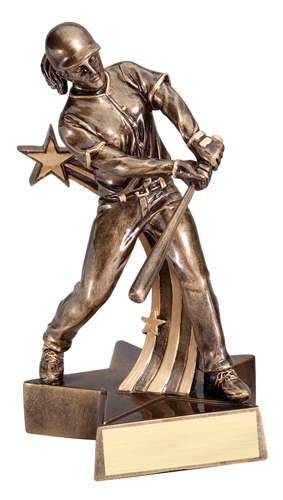 "6 1/2"" Shooting Star Softball Trophy"