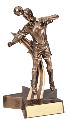 "6-1/2"" Shooting Star Male Soccer Trophy"