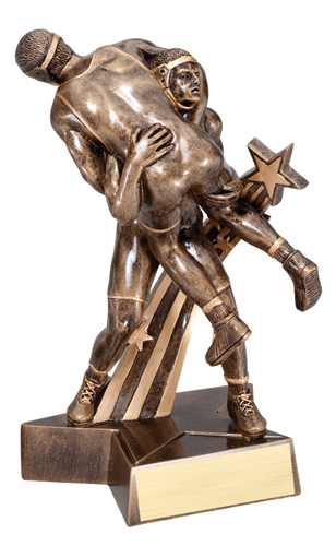 "6-1/2"" Shooting Star Wrestling Trophy"