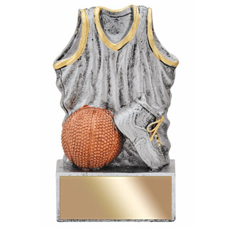 "4-1/2"" Resin Jersey Basketball Trophy"