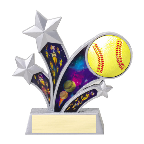 6 in Rising Star Resin Softball Trophy