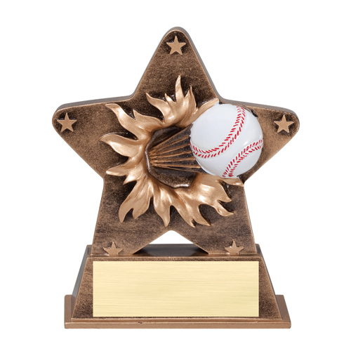 5 1/4 in Starburst Resin Baseball Trophy