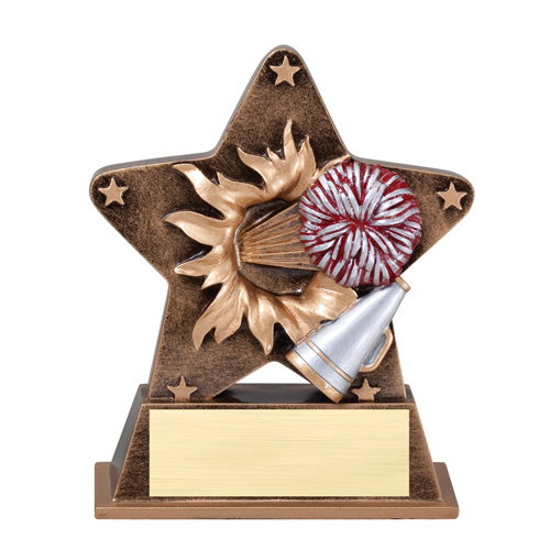 "5 1/4"" Starburst Resin Cheerleading Trophy"