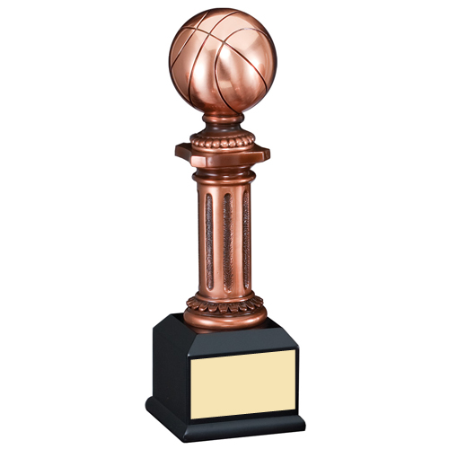 "10"" Elegant Electroplated Sculpture Basketball Trophy"
